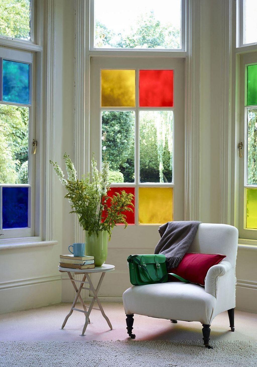 استفاده از شیشه های رنگی در دکوراسیون منزل